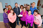 Members of Inspire in The Square received €900 on Friday, raised through a table quiz and raffle by the Fergal O'Sullivan and Darren O'Sullivan from the Castle Bar in Tralee recently. Pictured were: Carmel Roche, Maree O'Connor, Labhaoise O'Connor, Fergal O'Sullivan, Yvonne O'Brien, Kerrie O'Mahony, Courtney Sheehy, Darren O'Sullivan, Marie Claire McCarthy and Niamh O'Connor.