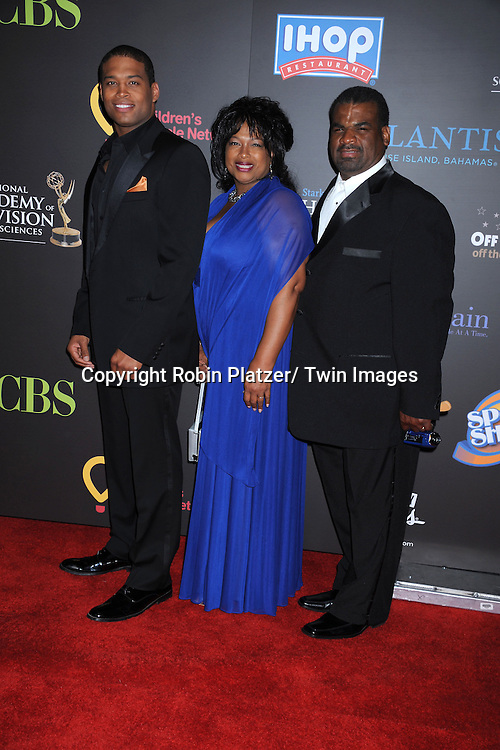 Texas Battle and mother and father Wanda and Kenneth arriving at the 38th Annual Daytime Emmy Awards  on June 19, 2011 at The Las Vegas Hilton in Las Vegas Nevada. .photo by Robin Platzer/ Twin Images  ..212-935-0770