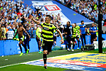 Jonathan Hogg of Huddersfield Town celebrates after winning the penalty shootout during the SkyBet Championship Play Off Final match at the Wembley Stadium, England. Picture date: May 29th, 2017.Picture credit should read: Matt McNulty/Sportimage