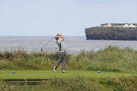 Colm Campbell Jnr (Warrenpoint) on the 4th tee during Matchplay Round 1 of the South of Ireland Amateur Open Championship at LaHinch Golf Club on Friday 22nd July 2016.<br /> Picture:  Golffile | Thos Caffrey<br /> <br /> All photos usage must carry mandatory copyright credit   (© Golffile | Thos Caffrey)