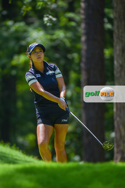 Jenny Shin (KOR) watches her tee shot on 2 during round 3 of the U.S. Women's Open Championship, Shoal Creek Country Club, at Birmingham, Alabama, USA. 6/2/2018.<br /> Picture: Golffile | Ken Murray<br /> <br /> All photo usage must carry mandatory copyright credit (© Golffile | Ken Murray)