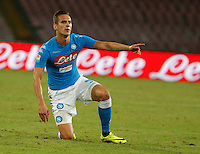Arkadiusz Milik during the  italian serie a soccer match,between SSC Napoli and   Bologna FC    at  the San  Paolo   stadium in Naples  Italy , September 18, 2016
