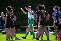 The referee goes to the TMO during the 2017 1st XV rugby Top Four girls' final between St Mary's College and Hamilton Girls' High School at Sport and Rugby Institute in Palmerston North, New Zealand on Sunday, 10 September 2017. Photo: Dave Lintott / lintottphoto.co.nz