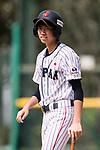#24 Ikemoto Ayuri in action during the BFA Women's Baseball Asian Cup match between Japan and India at Sai Tso Wan Recreation Ground on September 6, 2017 in Hong Kong. Photo by Marcio Rodrigo Machado / Power Sport Images