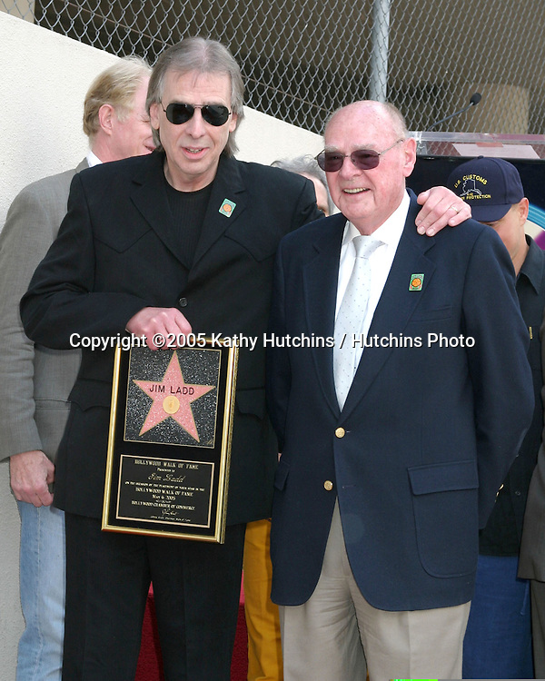 Jim Ladd and father.Jim Ladd receives Star on the .Hollywood Walk of Fame.Hollywood  CA.May 6, 2005.©2005 Kathy Hutchins / Hutchins Photo