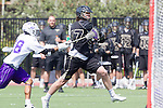 Orange, CA 05/16/15 - Connor Ervin (Colorado #47) and Eli Sayson (Grand Canyon #18) in action during the 2015 MCLA Division I Championship game between Colorado and Grand Canyon, at Chapman University in Orange, California.