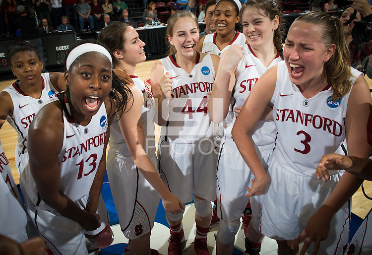 STANFORD, CA - The Stanford Cardinal advances to the Elite Eight with a win over the Penn State Lions at Maples Pavilion.