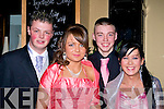 ARRIVED: First to arrive at the Presentation Debs Tralee in the Abbey Gate Hotel, L-r: Gavin Murphy, Erica Roche, Craig Locke and Shauna Delaney.......