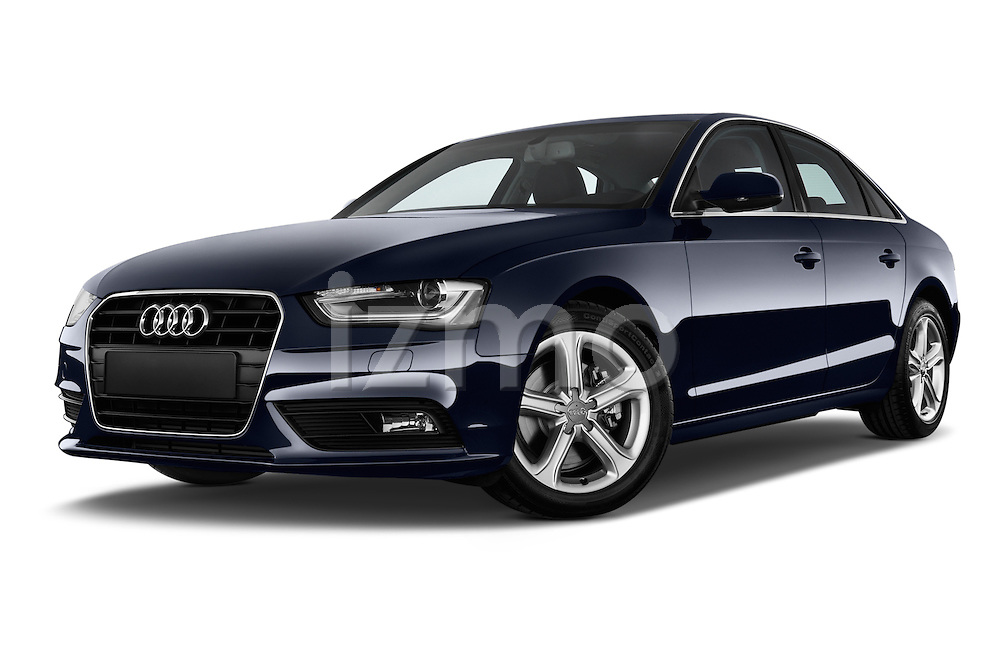 Low aggressive front three quarter view of a 2014 Audi A4 AMBITION LUXE 4 Door Sedan 2WD