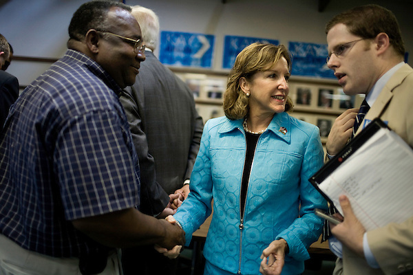 September 12, 2008. Raleigh, NC..  Responding to the highly contested race for the US Senate seat of North Carolina between herself and the incumbent, Elizabeth Dole, Kay Hagan held  a town hall meeting at a  VFW hall in  Raleigh, NC to raise awareness of her veterans policy.