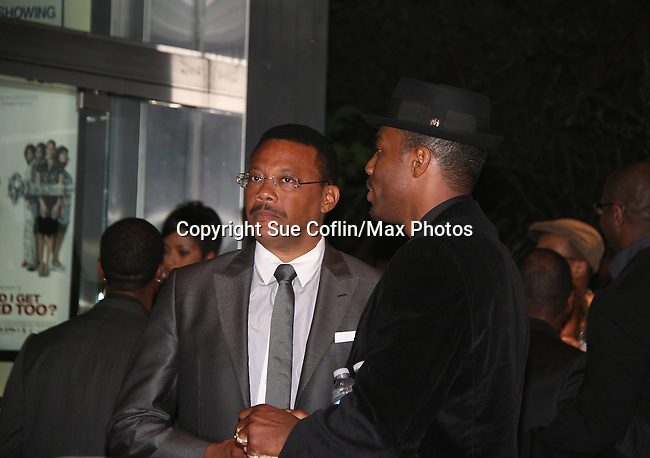 Judge Greg Mathis and Tobias Truvillion attend the premiere of Tyler Perry's Why Did I Get Married Too? on March 22, 2010 at the School Of Visual Ats Theater, New York City, NY. (Photos by Sue Coflin/Max Photos)