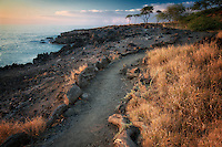 Path near Hapuna Beach, Hawaii, Island, The big island
