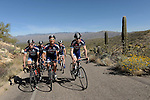 TUCSON, AZ - MARCH 4:  Mitch Jacaruso, Greg Olsen, and Igor Volshteyn, owners of the Champion System Stan's NoTubes Pro Cycling Team go for a ride on March 4, 2014 in Tucson, Arizona.  (Photo by Donald Miralle for Wall Street Journal)