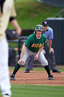 Siena Saints catcher Phil Madonna (3) leads off first base during a game against the UCF Knights on February 21, 2016 at Jay Bergman Field in Orlando, Florida.  UCF defeated Siena 11-2.  (Mike Janes/Four Seam Images)