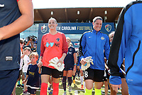 Cary, North Carolina  - Saturday June 03, 2017: Katelyn Rowland and Nicole Barnhart prior to a regular season National Women's Soccer League (NWSL) match between the North Carolina Courage and the FC Kansas City at Sahlen's Stadium at WakeMed Soccer Park. The Courage won the game 2-0.