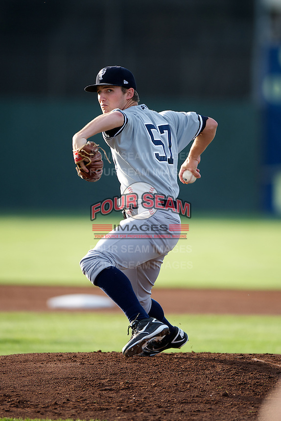 Staten Island Yankees Corey Black #57 during a game against the Batavia Muckdogs at Dwyer Stadium on July 28, 2012 in Batavia, New York.  Batavia defeated Staten Island 2-1.  (Mike Janes/Four Seam Images)