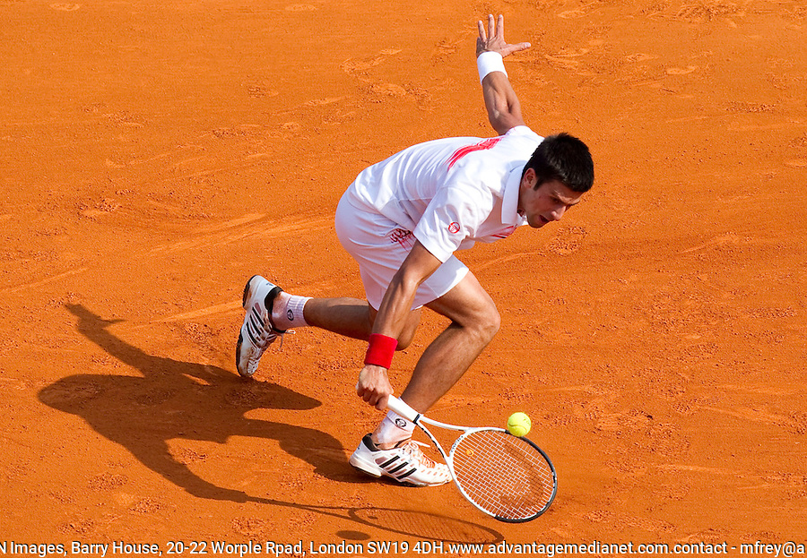 Novak DJOKOVIC (SRB) against David NALBANDIAN (ARG) in the Quarter Finals. Novak Djokovic beat David Nalbandian 6-2 6-3..International Tennis - 2010 ATP World Tour - Masters 1000 - Monte-Carlo Rolex Masters - Monte-Carlo Country Club - Alpes-Maritimes - France..© AMN Images, Barry House, 20-22 Worple Road, London, SW19 4DH.Tel -  + 44 20 8947 0100.Fax - + 44 20 8947 0117