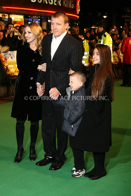 Madonna, Guy Ritchie, Lourdes Maria Ciccone Leon and Rocco Ritchie at the uk premiere of 'Arthur and the Invisibles' at the Vue west end Cinema, London - 25 January 2007 ..FAMOUS PICTURES AND FEATURES AGENCY 13 HARWOOD ROAD LONDON SW6 4QP UNITED KINGDOM tel +44 (0) 20 7731 9333 fax +44 (0) 20 7731 9330 e-mail info@famous.uk.com www.famous.uk.com .FAM19449