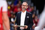 13.09.2019, Paleis 12, BrŸssel / Bruessel<br />Volleyball, Europameisterschaft, Belgien (BEL) vs. …sterreich / Oesterreich (AUT)<br /><br />Michael Warm (Trainer / Coach AUT) enttŠuscht / enttaeuscht / traurig <br /><br />  Foto © nordphoto / Kurth