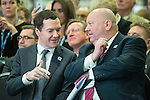 © Joel Goodman - 07973 332324 . 13/06/2016 . Liverpool , UK . Chancellor of the Exchequer , GEORGE OSBORNE talks to Mayor of Liverpool JOE ANDERSON at the International Festival for Business at the Liverpool Exhibition Centre . Photo credit : Joel Goodman