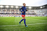 Saint Paul, MN - SEPTEMBER 03: Emily Sonnett #14 of the United States during their 2019 Victory Tour match versus Portugal at Allianz Field, on September 03, 2019 in Saint Paul, Minnesota.