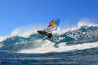 Kai Lenny (USA) windsurfing in Ho'okipa Beach Park (Maui, Hawaii, USA)