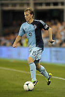 Seth Sinovic (15) Sporting KC defender in action..Sporting Kansas City defeated Montreal Impact 2-0 at Sporting Park, Kansas City, Kansas.