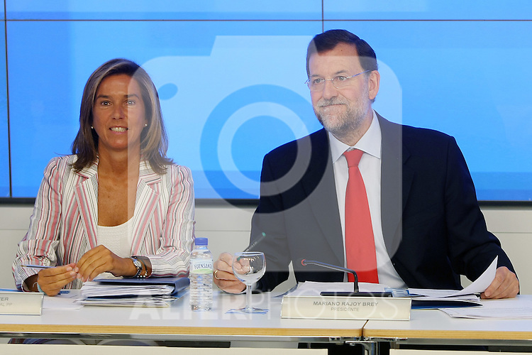 Mariano Rajoy y Ana Mato durante el Comite Ejecutivo Nacional del PP..(ALTERPHOTOS/Acero).