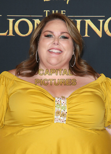 HOLLYWOOD, CA - JULY 9: Chrissy Metz at The Lion King Film Premiere at El Capitan Theatre in Hollywood, California on July 9, 2019. <br /> CAP/MPIFS<br /> ©MPIFS/Capital Pictures