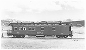 Side view of RGS business car B-20 &quot;Edna&quot; before 1949 Memorial Day Rocky Mountain Railroad Club Special.  Thr Rocky Club has painted and cleaned the car.<br /> RGS  Ridgway, CO  Taken by Maxwell, John W. - 5/15/1949