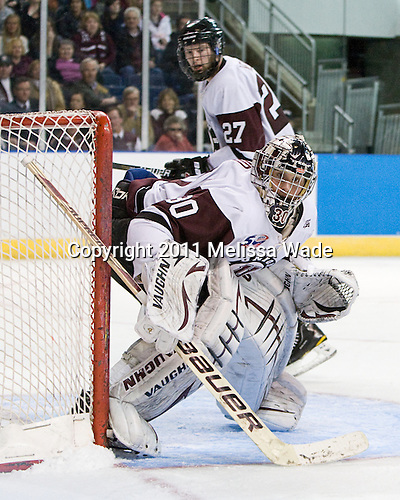 Keith Kincaid (Union - 30) - The University of Minnesota-Duluth Bulldogs defeated the Union College Dutchmen 2-0 in their NCAA East Regional Semi-Final on Friday, March 25, 2011, at Webster Bank Arena at Harbor Yard in Bridgeport, Connecticut.