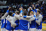February 4, 2015 - Colorado Springs, Colorado, U.S. -    Air Force players prior to a Mountain West Conference match-up between the New Mexico Lobos and the Air Force Academy Falcons at Clune Arena, U.S. Air Force Academy, Colorado Springs, Colorado.  Air Force upsets New Mexico 53-49.