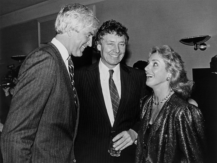 Rep. Tom McMillen, D-Md. with Elizabeth Frawley Bagley and her husband Smith Bagley in 1989. (Photo by CQ Roll Call)