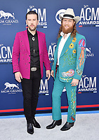 LAS VEGAS, CA - APRIL 07: T.J. Osborne (L) and John Osborne of Brothers Osborne attend the 54th Academy Of Country Music Awards at MGM Grand Hotel &amp; Casino on April 07, 2019 in Las Vegas, Nevada.<br /> CAP/ROT/TM<br /> &copy;TM/ROT/Capital Pictures