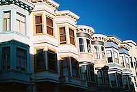 Row of Victorian Homes in San Francisco