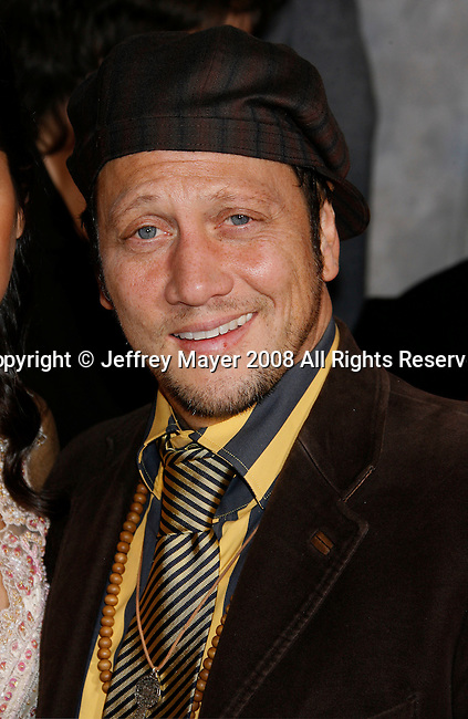 """HOLLYWOOD, CA. - December 18: Actor Rob Schneider arrives at the Los Angeles premiere of """"Bedtime Stories"""" at the El Capitan Theatre on December 18, 2008 in Hollywood, California."""
