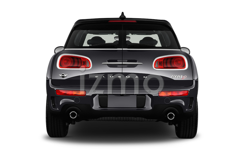 Straight rear view of 2016 MINI Clubman Cooper-SD 5 Door wagon Rear View  stock images