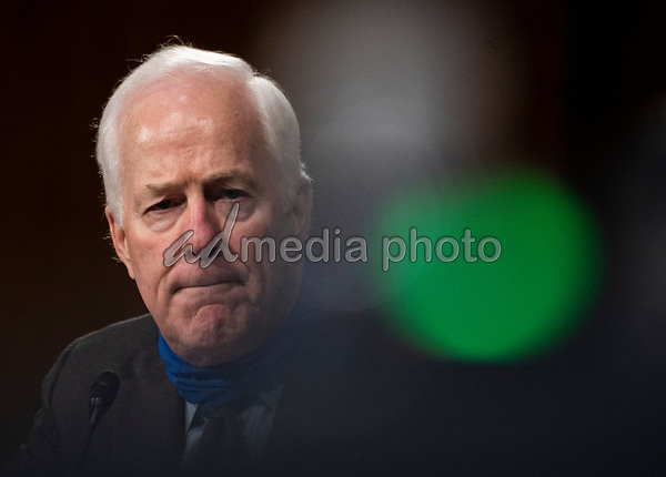 "United States Senator John Cornyn (Republican of Texas) looks on during a Senate Finance Committee hearing on ""COVID-19 and Beyond: Oversight of the FDA's Foreign Drug Manufacturing Inspection Process"" at the US Capitol in Washington, DC on June 2, 2020.<br /> Credit: Andrew Caballero-Reynolds / Pool via CNP/AdMedia"