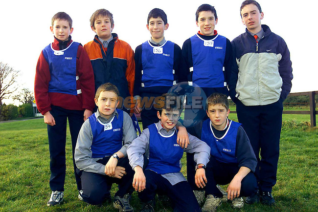 Donacarney Under 13's who took part in the Cross Country School Championships in Bellewstown. Pictured are Back Row L/R, Sean Pillon, Mark Eagleton, James Smith, Eoin Woods and Robert Maxwell. Front Row L/R, Donal O'Sullivan, John O'Sullivan and Lorcan O'Sullivan..Picture: Paul Mohan/Newsfile