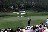 2001 Augusta GA, USA; Bernhard Langer putts on the 12th hole at the US Masters golf Augusta Georgia USA