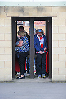 Lincoln City fans arrive at the ground, through the turnstiles<br /> <br /> Photographer Andrew Vaughan/CameraSport<br /> <br /> The EFL Sky Bet League Two - Lincoln City v Morecambe - Saturday August 12th 2017 - Sincil Bank - Lincoln<br /> <br /> World Copyright &copy; 2017 CameraSport. All rights reserved. 43 Linden Ave. Countesthorpe. Leicester. England. LE8 5PG - Tel: +44 (0) 116 277 4147 - admin@camerasport.com - www.camerasport.com