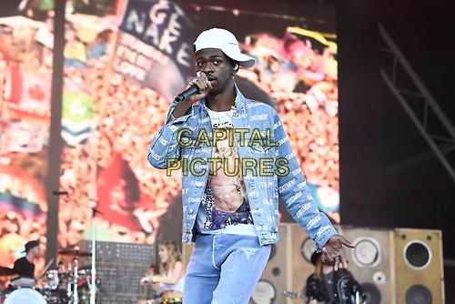 SHEPTON MALLET, ENGLAND - JUNE 30: Lil Nas X performing at Glastonbury Festival, Worthy Farm, Pilton, on June 30, 2019 in Shepton Mallet, England.<br /> CAP/MAR<br /> ©MAR/Capital Pictures
