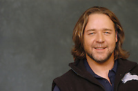 """RUSSELL CROWE.Photocall for """"3:10 To Yuma"""", Rome, Italy..October 16th, 2007.three ten 310 3 10 headshot portrait stubble facial hair .CAP/CAV.©Luca Cavallari/Capital Pictures."""