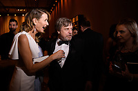 Academy Governor Laura Dern and Mark Hamill backstage during the live ABC Telecast of The 90th Oscars&reg; at the Dolby&reg; Theatre in Hollywood, CA on Sunday, March 4, 2018.<br /> *Editorial Use Only*<br /> CAP/PLF/AMPAS<br /> Supplied by Capital Pictures