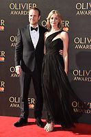 Rafe Spall &amp; Elize du Toit at The Olivier Awards 2017 at the Royal Albert Hall, London, UK. <br /> 09 April  2017<br /> Picture: Steve Vas/Featureflash/SilverHub 0208 004 5359 sales@silverhubmedia.com