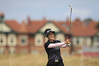 Rebecca Artis (AUS) on the 2nd fairway during Round 3 of the Ricoh Women's British Open at Royal Lytham &amp; St. Annes on Saturday 4th August 2018.<br /> Picture:  Thos Caffrey / Golffile<br /> <br /> All photo usage must carry mandatory copyright credit (&copy; Golffile | Thos Caffrey)