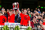 Caoilm Teahan and Calvin Teahan Glenbeigh Glencar players celebrate their victory over Rock Saint Patricks in the Junior Football All Ireland Final in Croke Park on Sunday.