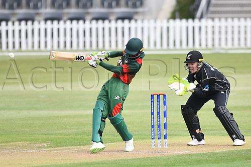 17th January 2018, Hagley Oval, Christchurch, New Zealand; Under 19 Cricket World Cup, New Zealand versus Kenya;  Kenya's batsman Aveet Desai in action