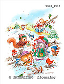 GIORDANO, CHRISTMAS ANIMALS, WEIHNACHTEN TIERE, NAVIDAD ANIMALES, paintings+++++,USGI2047,#XA#