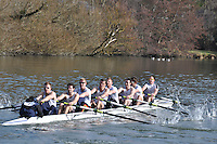 002 ELI.8+ Henley RC ..Reading University Boat Club Head of the River 2012. Eights only. 4.6Km downstream on the Thames form Dreadnaught Reach and Pipers Island, Reading. Saturday 25 February 2012.